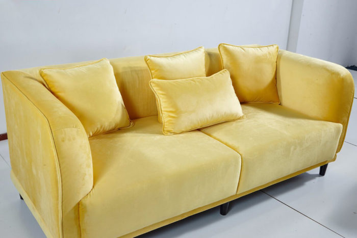 comfortable 2 seater fabric sofa