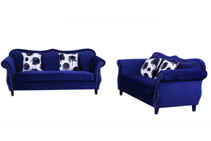 American Style blue Fabric Sofa for living room