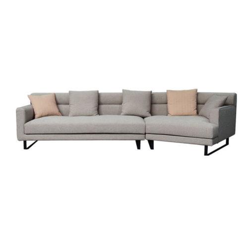 contemporary fabric corner sofa