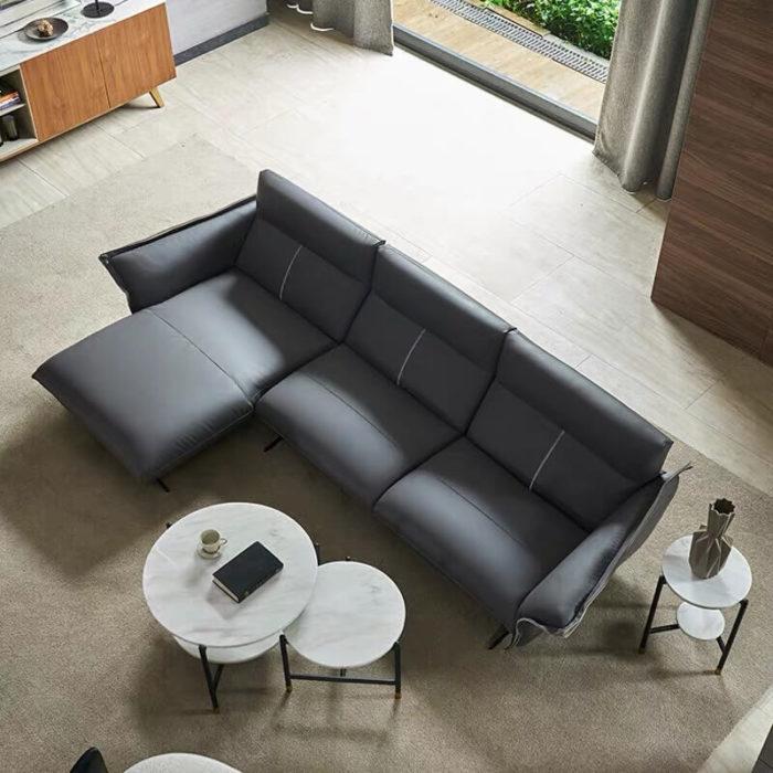 Italian style grey corner sofa