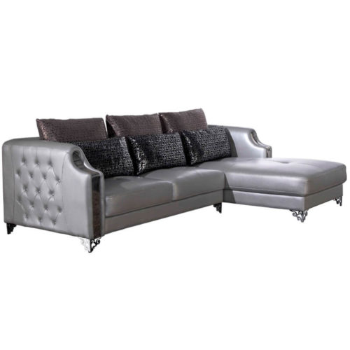 leather corner chaise lounge sofa