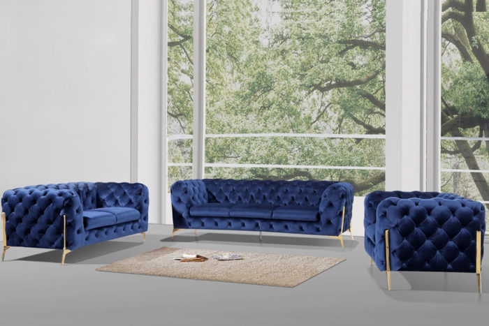 blue comfy tufted chesterfield couch