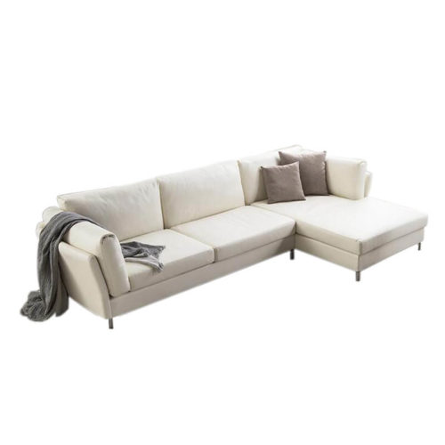 modular leather corner sofa in white color