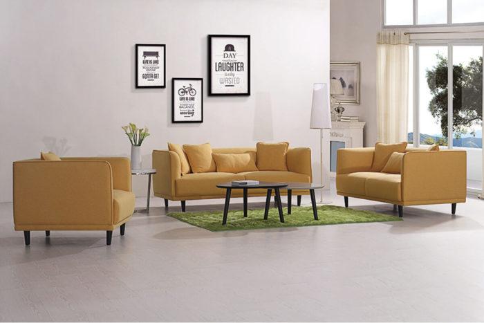 3 piece modern fabric sofa set