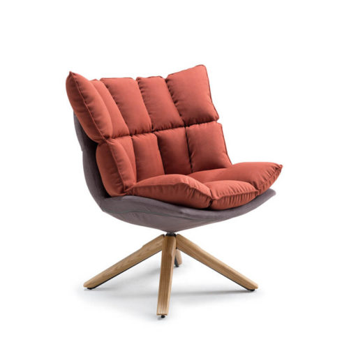Nordic style swivel bedroom chair