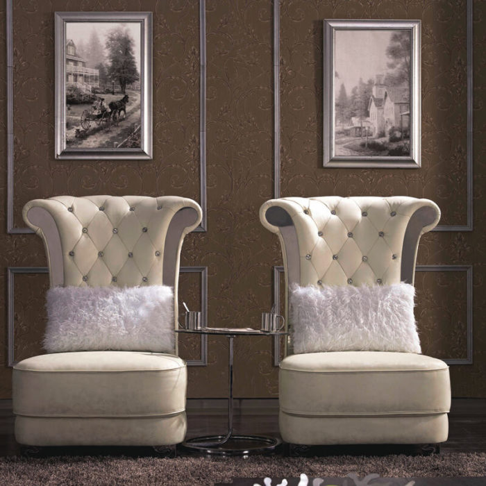accent tufted high back chair