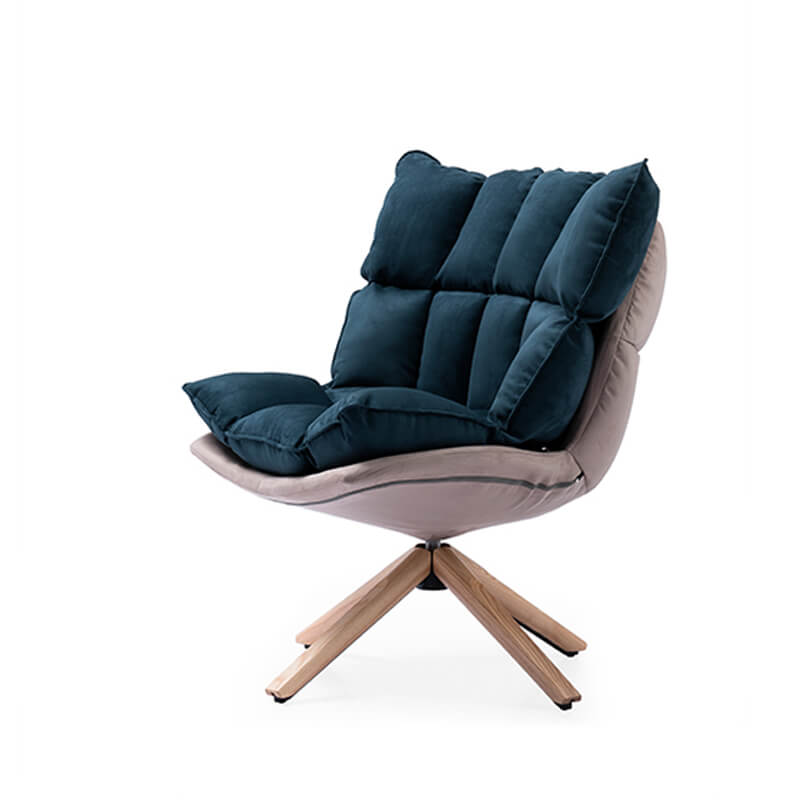 modern bedroom armchair with swivel function