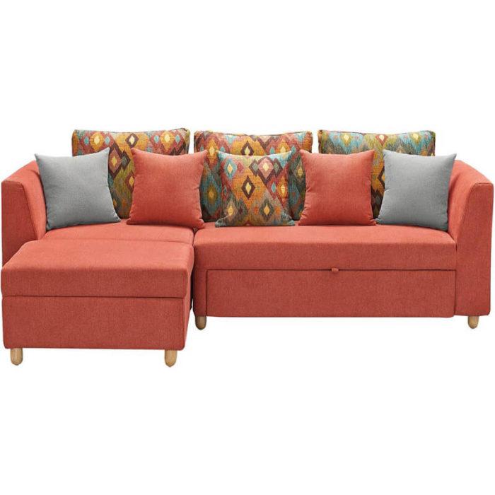 living room queen convertible orange sofa bed