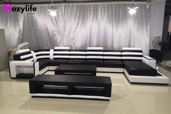 big U shaped sofa