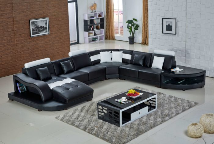 black sectional sofa sale with storage