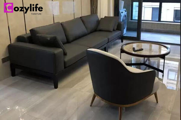 contemporary three seater sofa