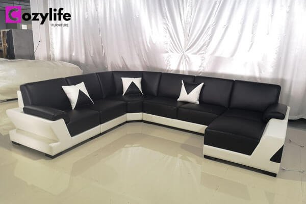 black sectional corner sofa
