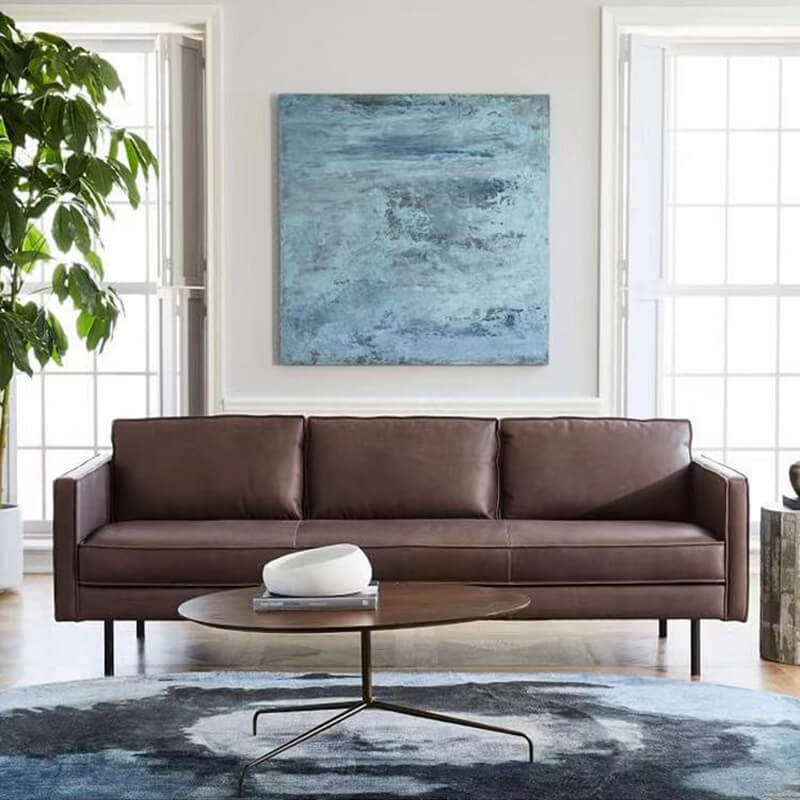 3 seater brown distressed leather sofa BKM01 800x800