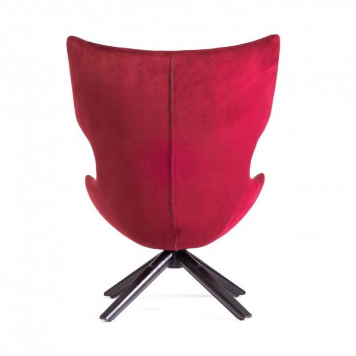 high back red velvet sofa back