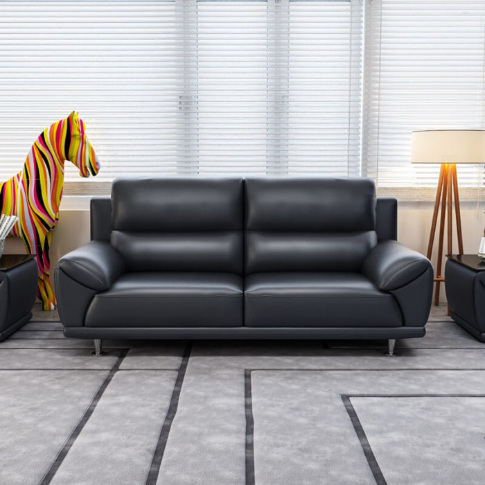 2 seater black couch