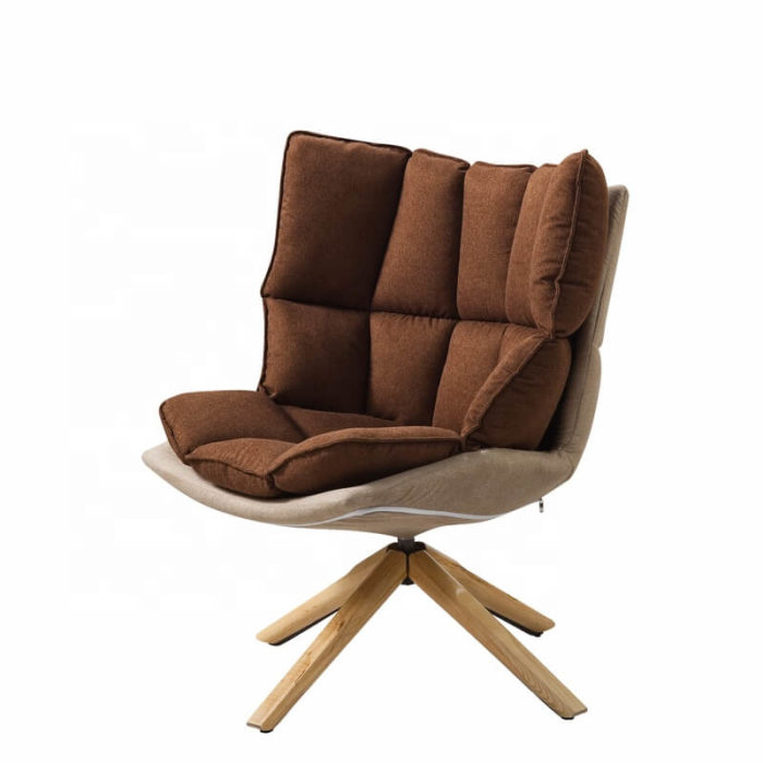 brown armchair for bedroom