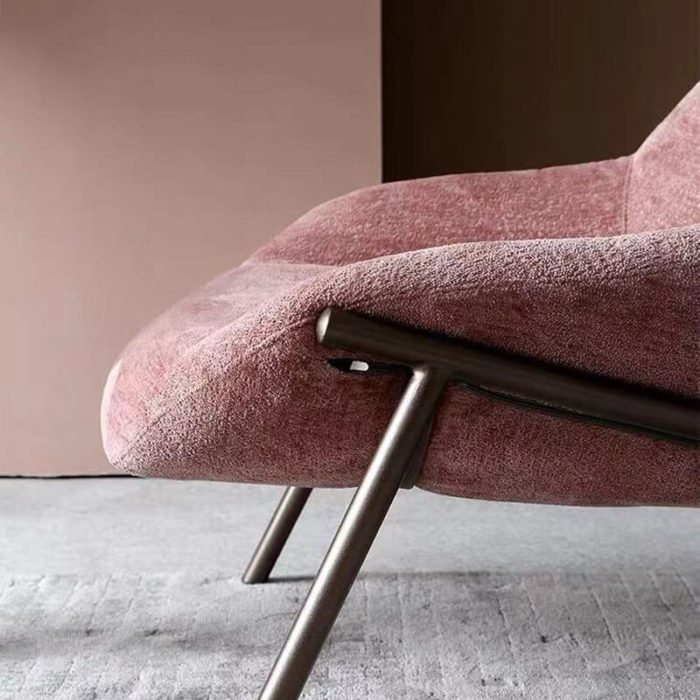 armchair with metal legs