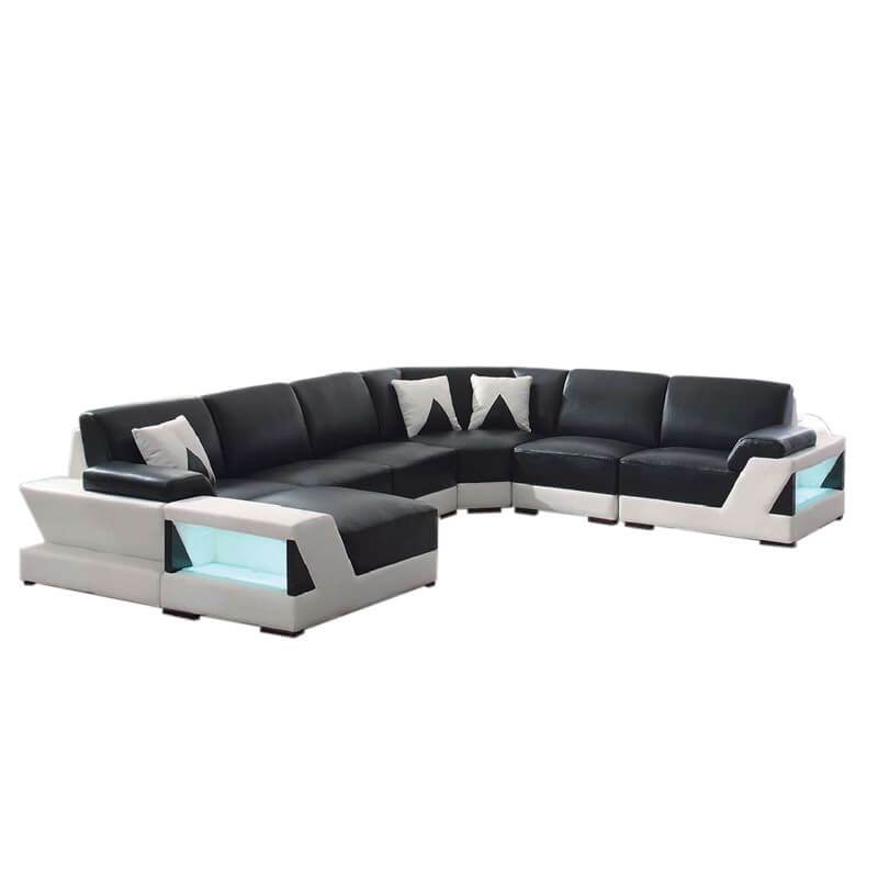 black leather sofas and sectionals
