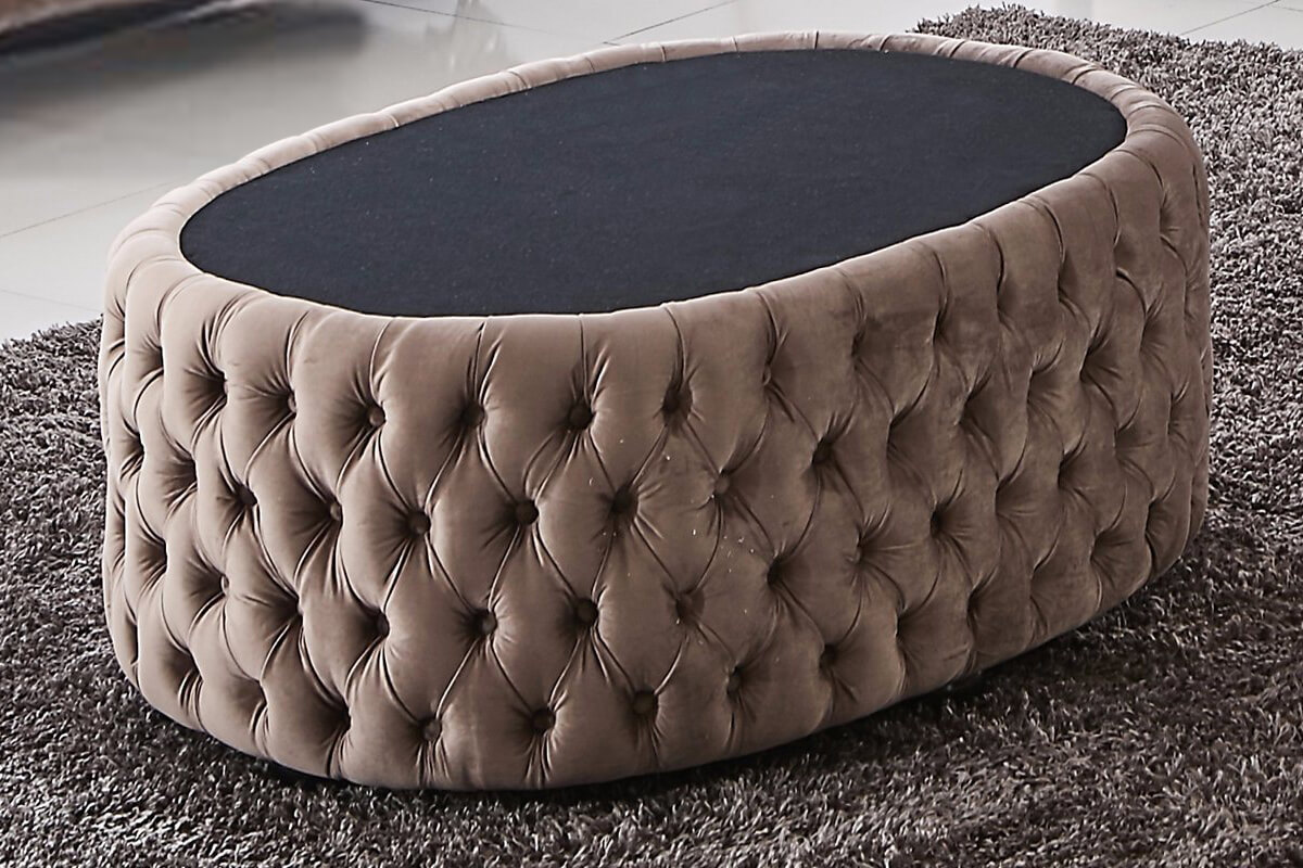 luxury chesterfield ottoman in brown
