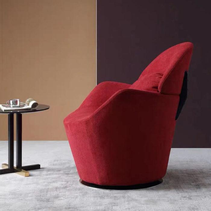 red velvet china sofa chair