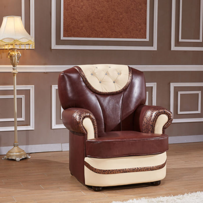 classic accent tufted brown chairs