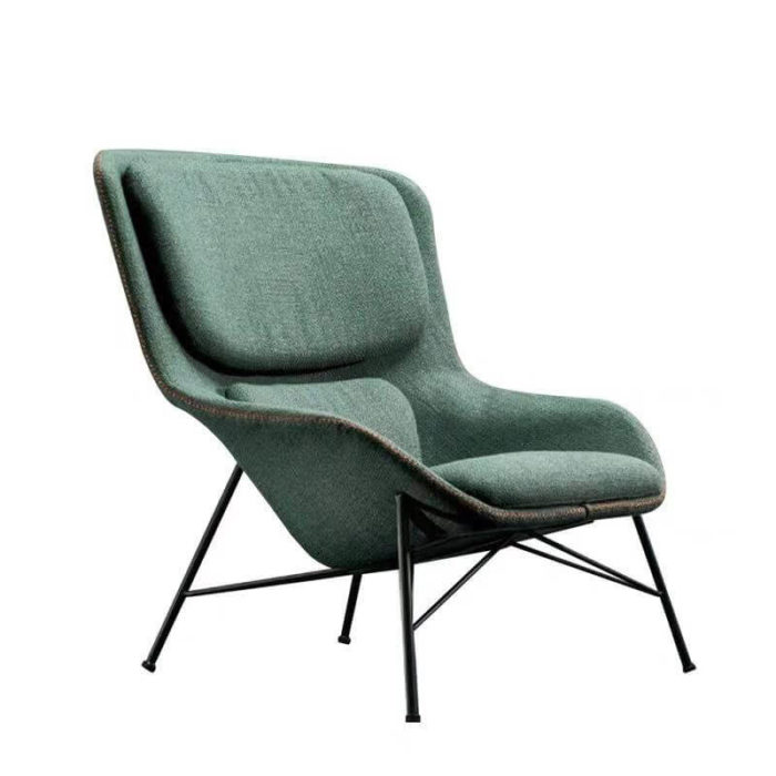 contemporary living room lounge chair with metal legs
