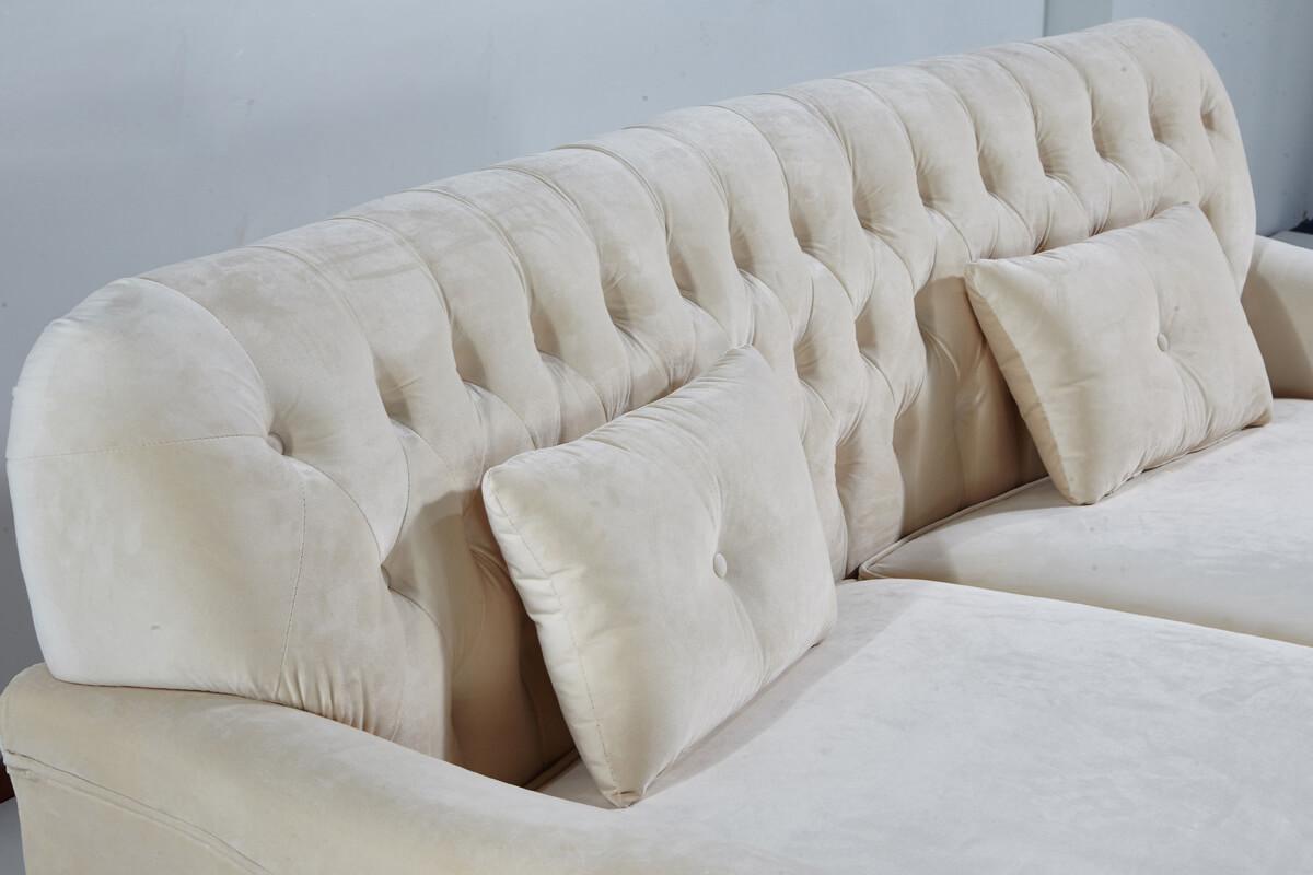 comfortable button tufted sofa back