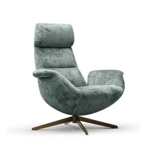 high back swivel grey accent armchair