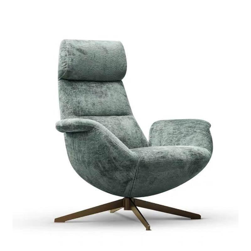 high back swivel grey accent armchair