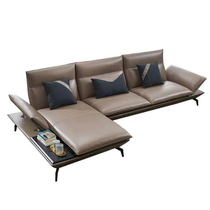 Small corner leather sofa