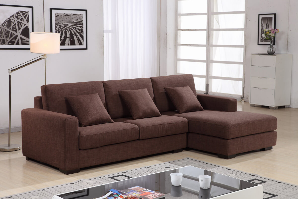small linen corner sofa