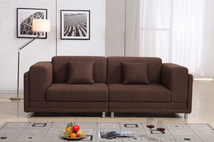 custom-made linen apartment sofa