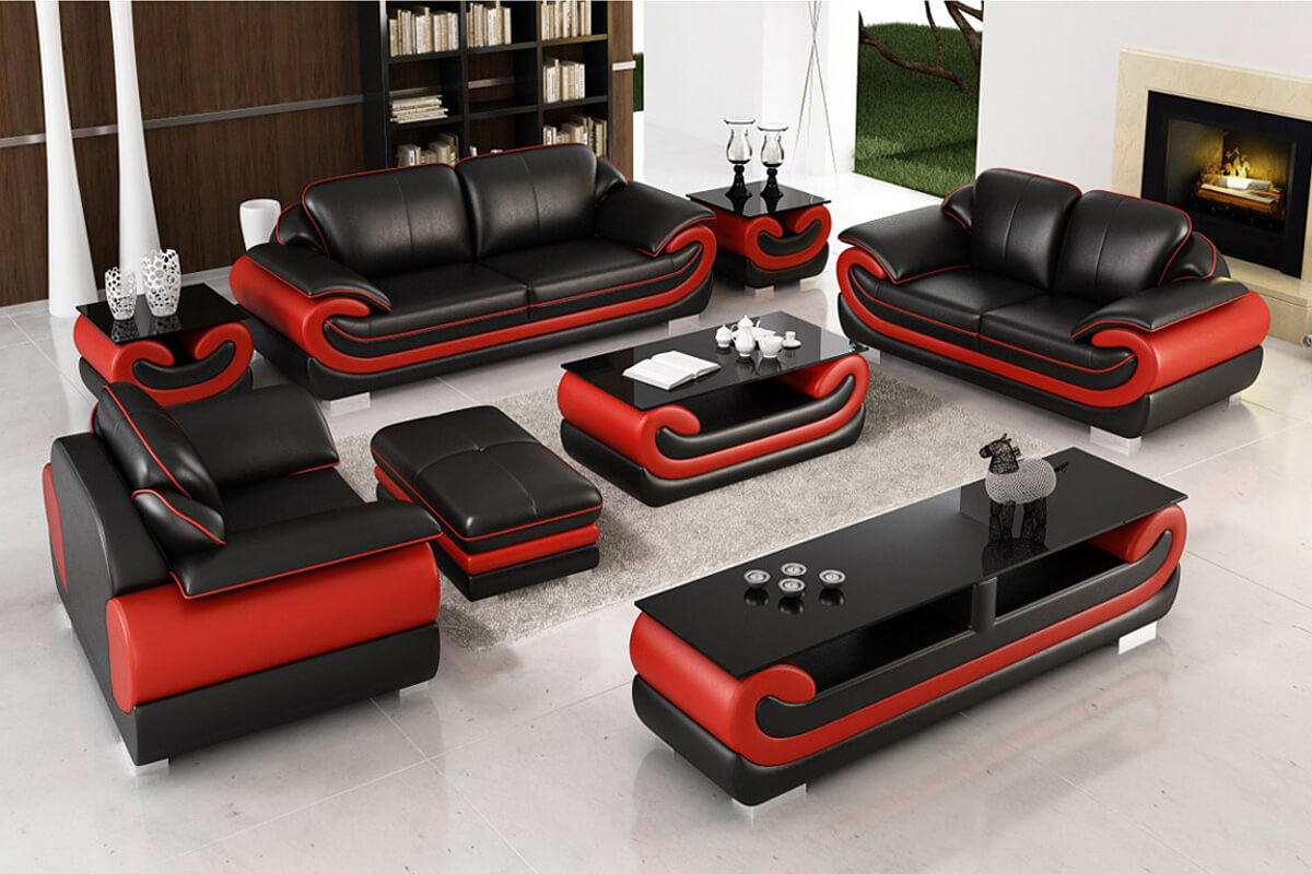 modern black sofa 321 with tables CL1488 1200x800