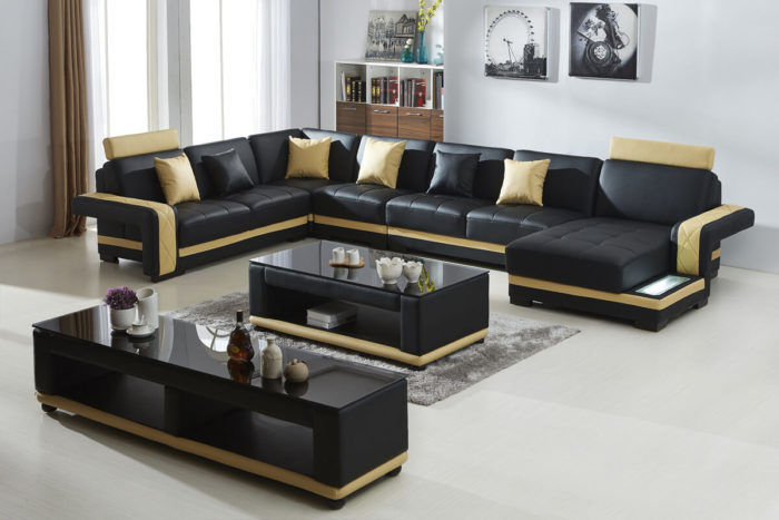 faux leather sectional corner sofa