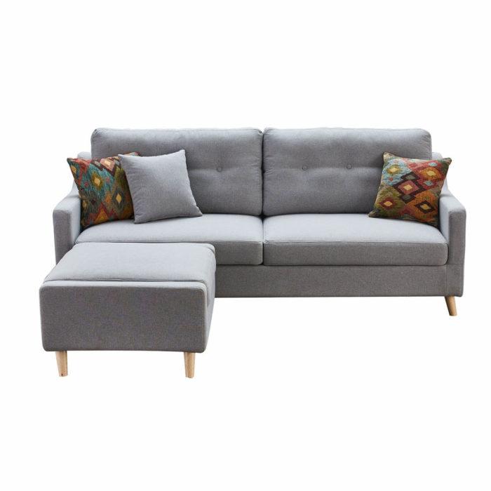 grey sofa bed with storage