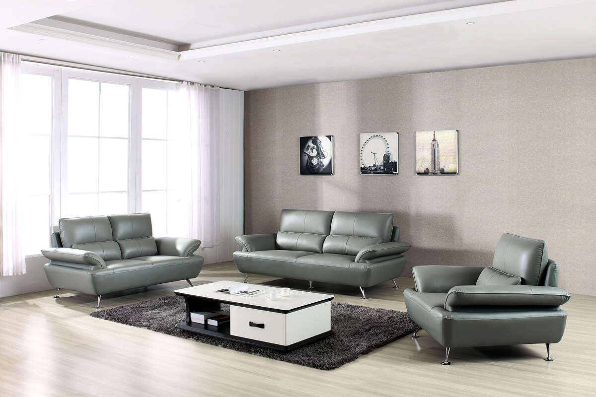 modern top grain leather home sofa