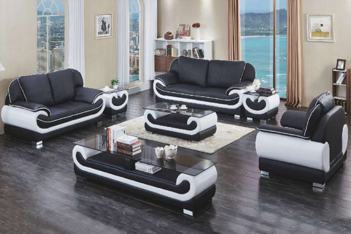 hot sale modern black sofa set
