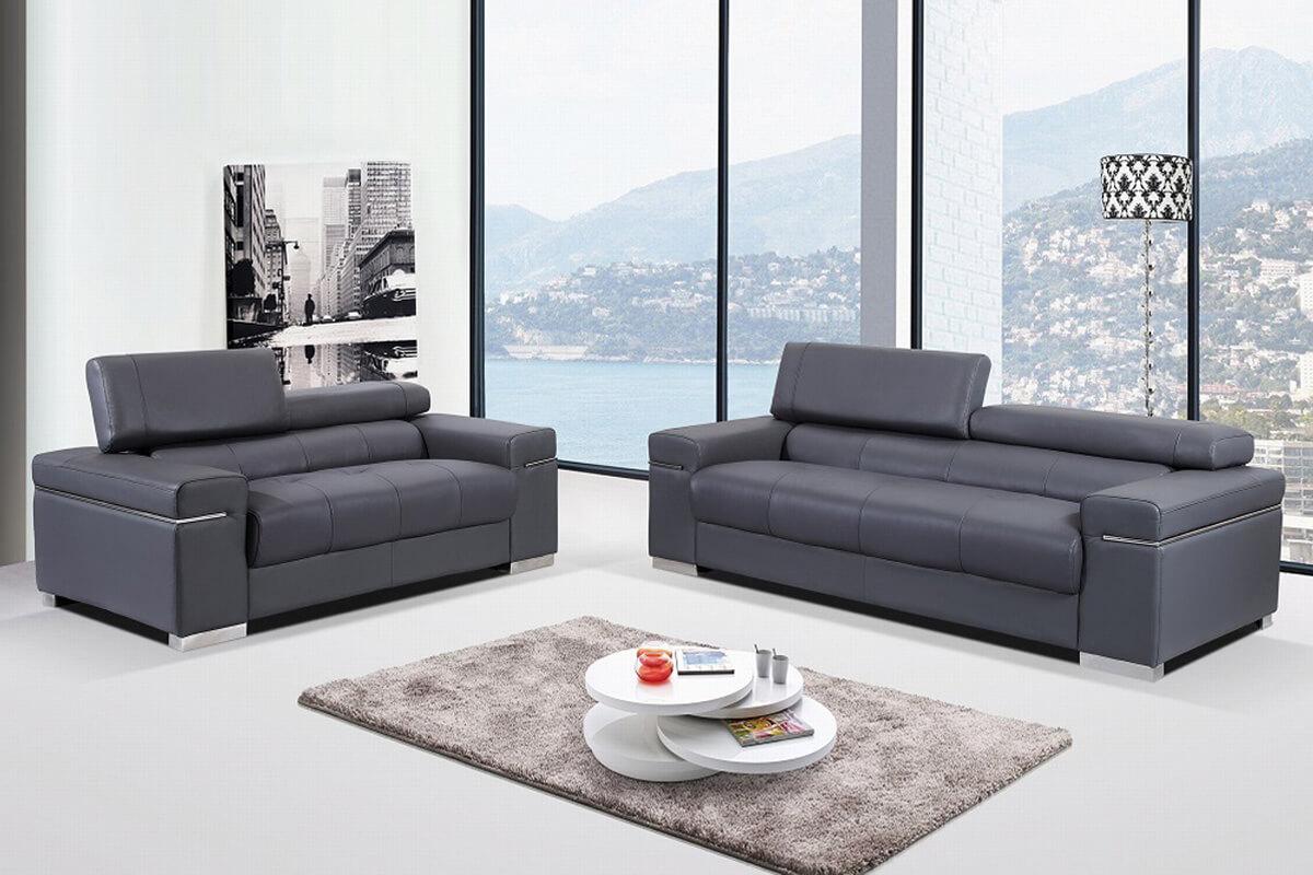 household living room black sofa