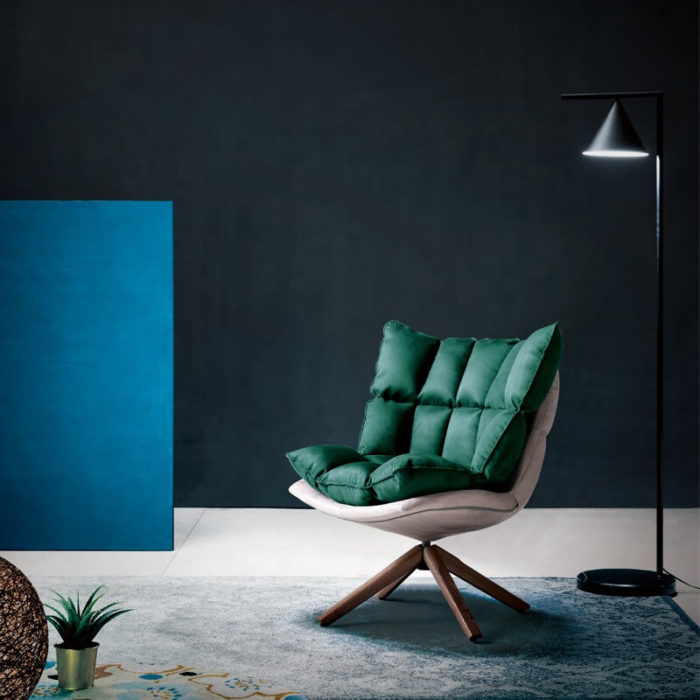 husk green lounge chair
