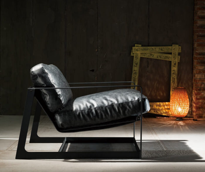 industrial style lounge chair