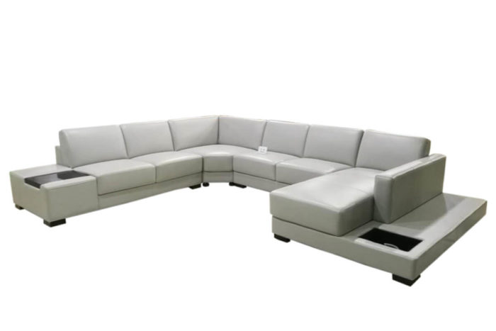 white leather corner couches with chaise