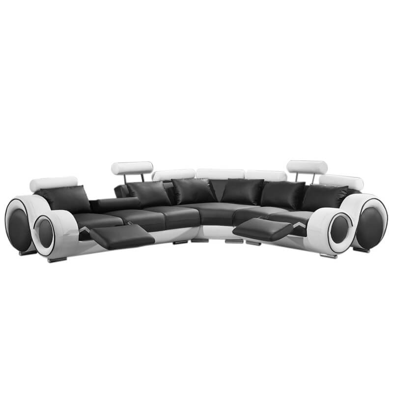 modern sectional reclining sofa