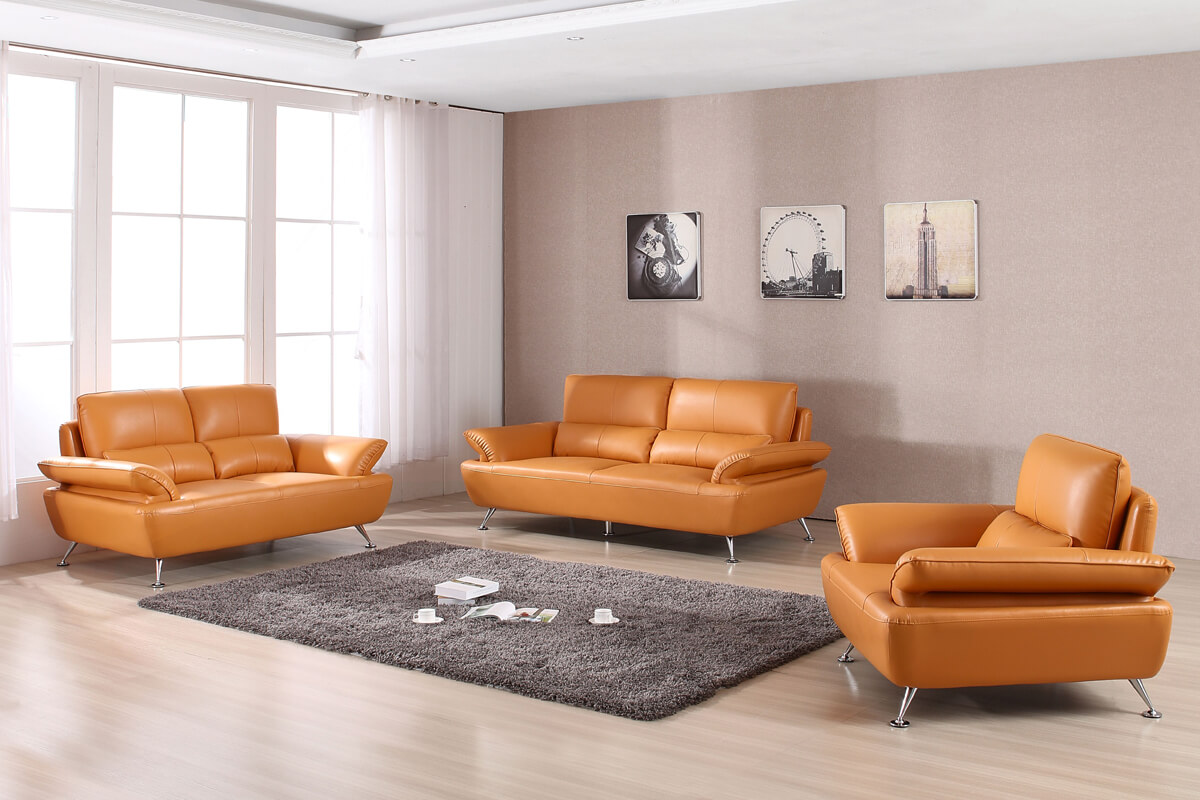 modern top grain leather leatherrette sofa