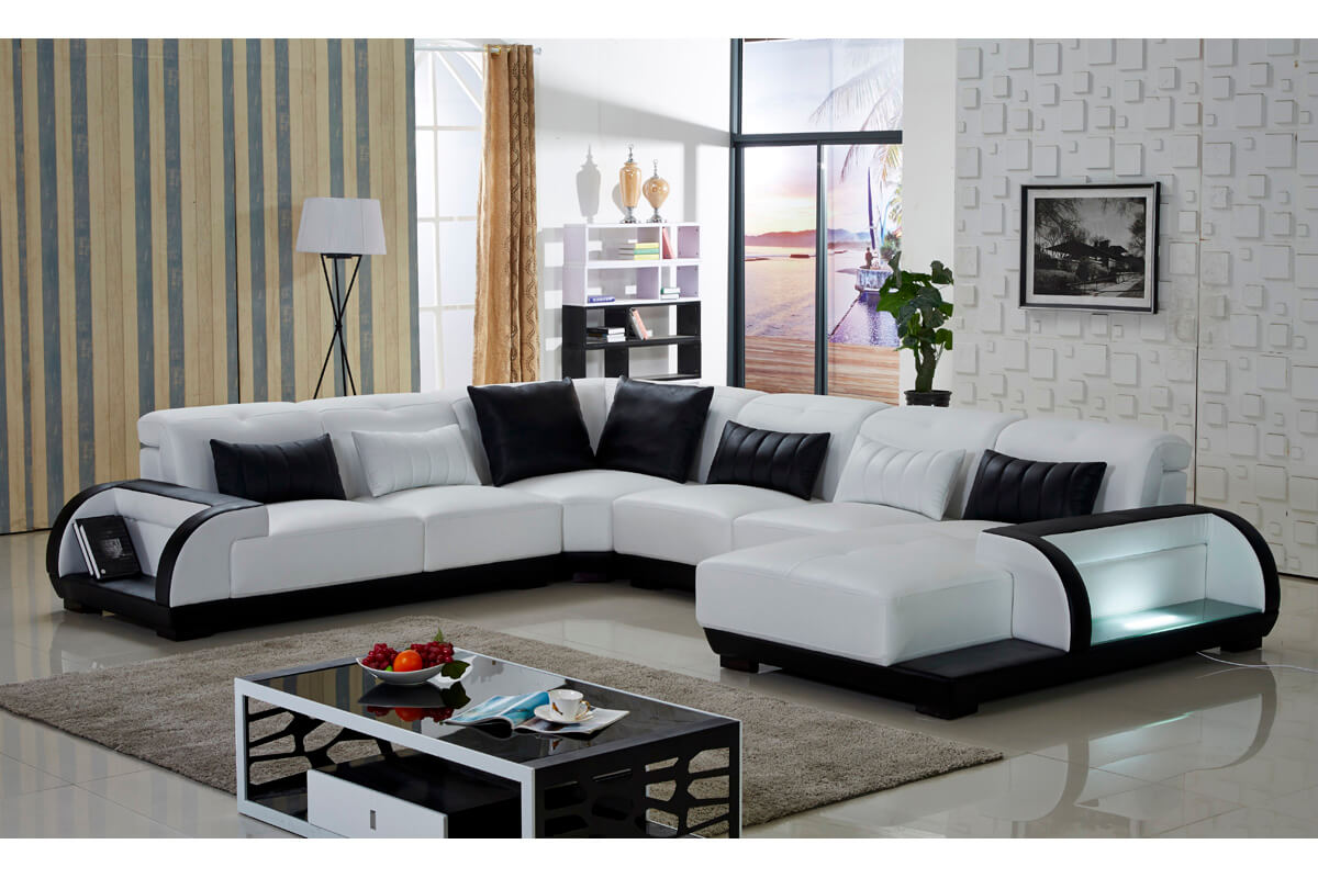 left hand facing 4 piece sectional sofa