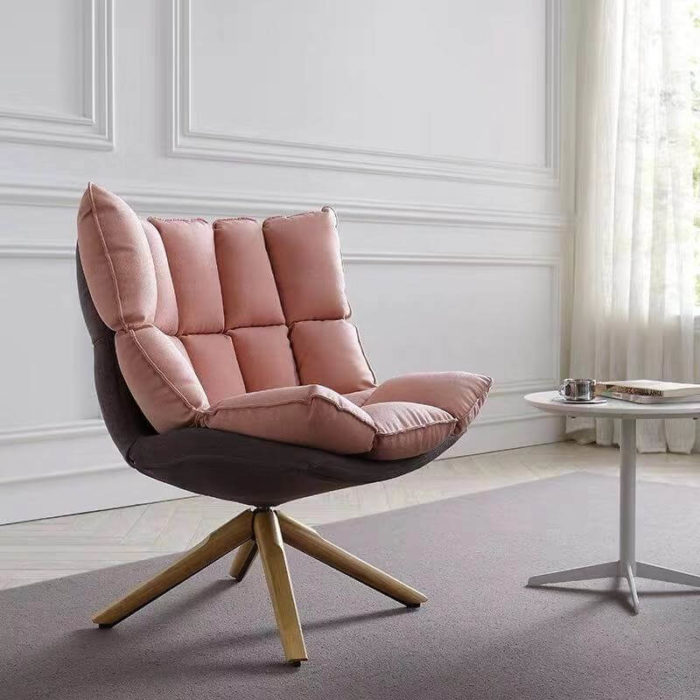 living room swivel pink armchair