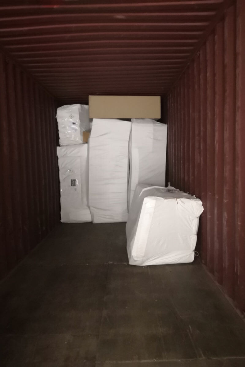 sofa packing and loading container