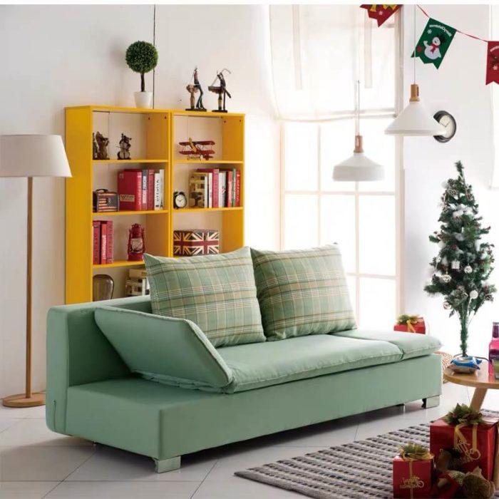 green fold down sofa bed