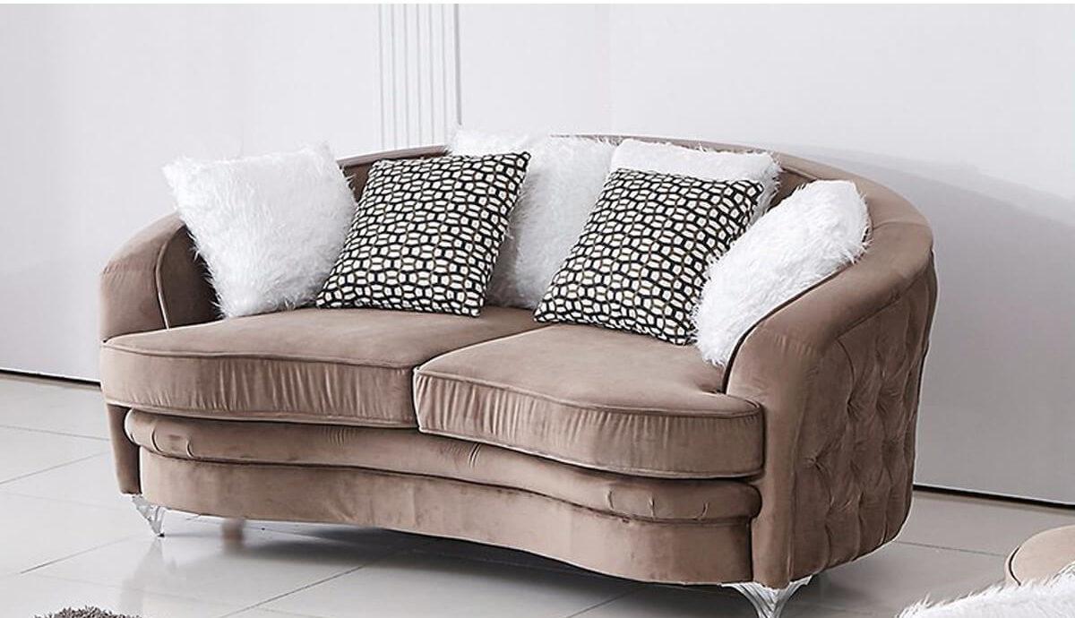 2 seater comfy velvet chesterfield sofa