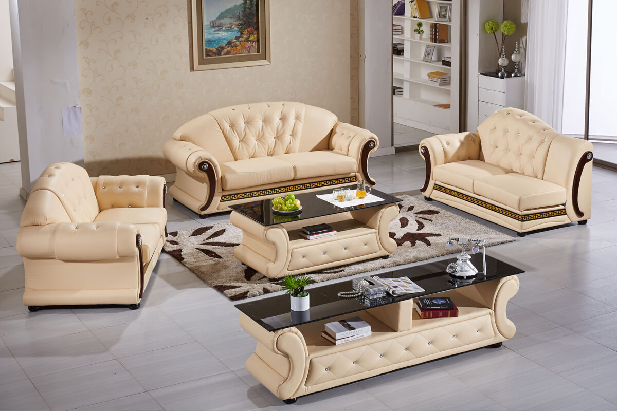 luxury leather sofa set for living room