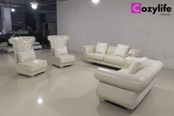 luxury leather couch set